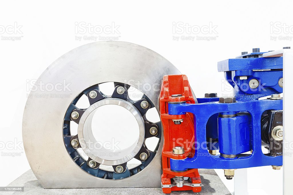 axle mounted disc isolated royalty-free stock photo