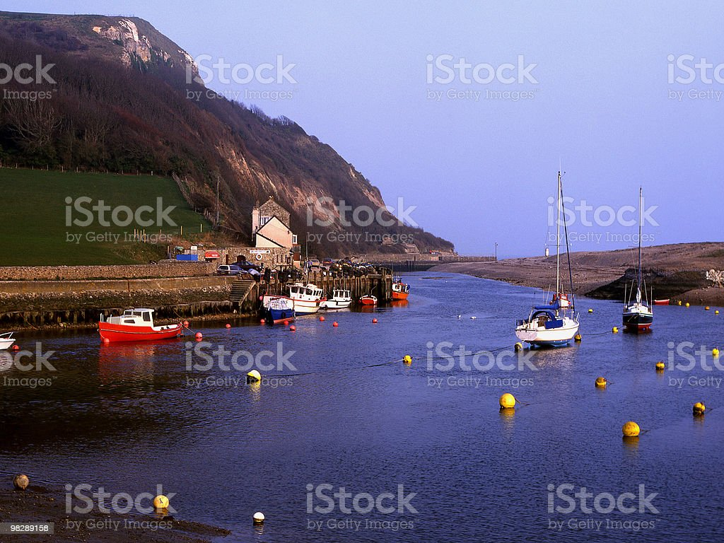 Axmouth Harbour, Devon, England royalty-free stock photo