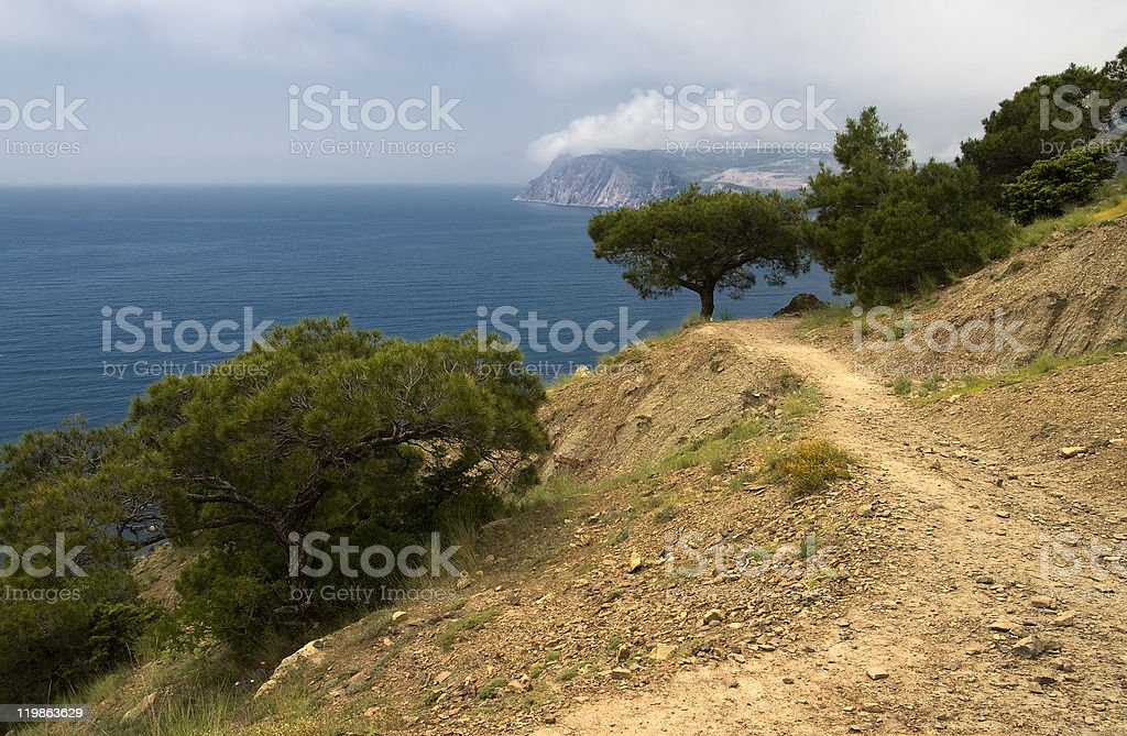 Aya cape in Crimea royalty-free stock photo