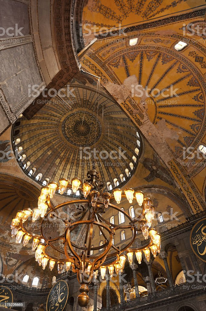 Aya Sofya chandelier royalty-free stock photo
