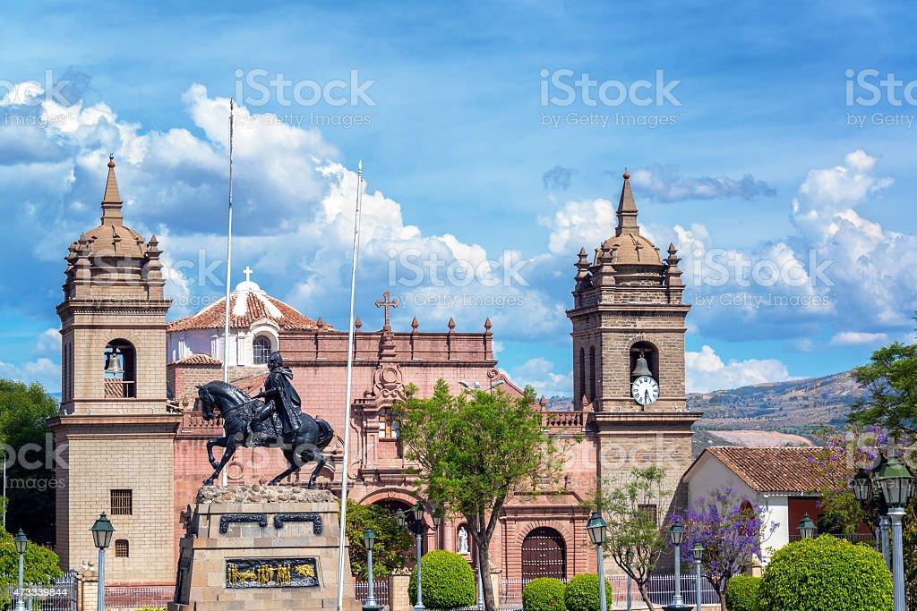 Ayacucho Plaza de Armas stock photo