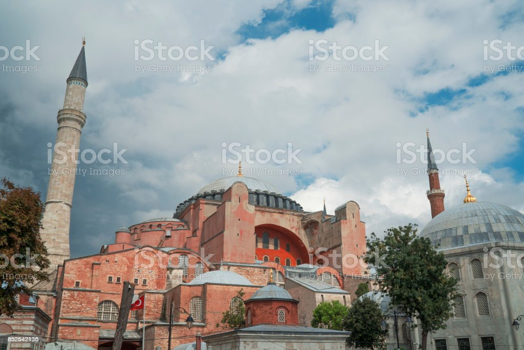 ayasofia mosque stock photo