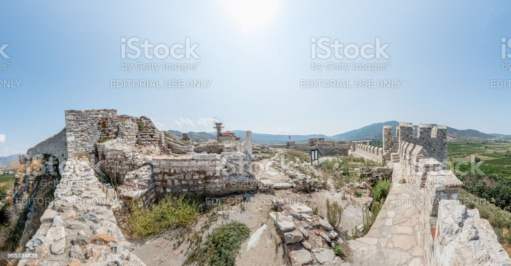 Ayasuluk forteresse, château à Selcuk, Izmir, Turquie. - Photo de Angle libre de droits