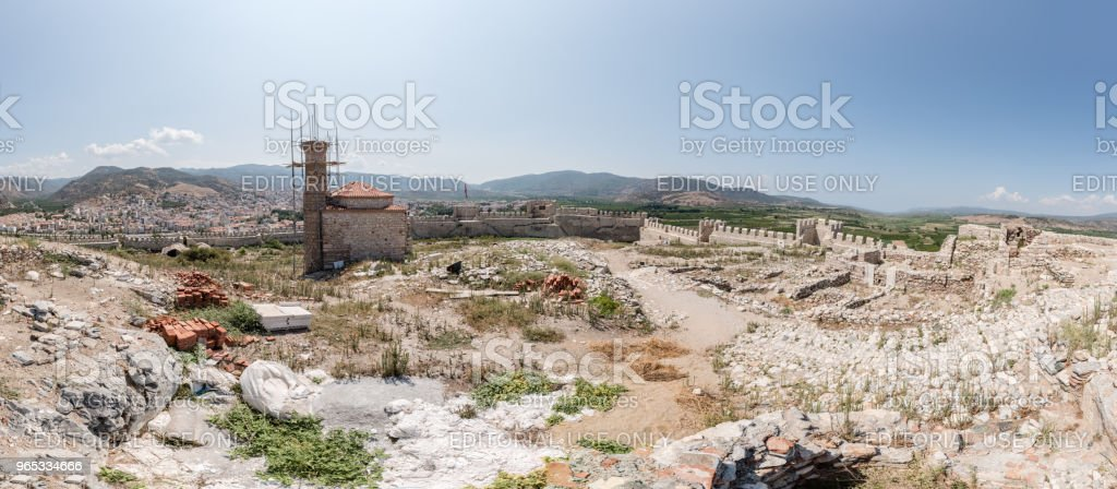 Ayasuluk Fortress,Castle in Selcuk, Izmir, Turkey. royalty-free stock photo