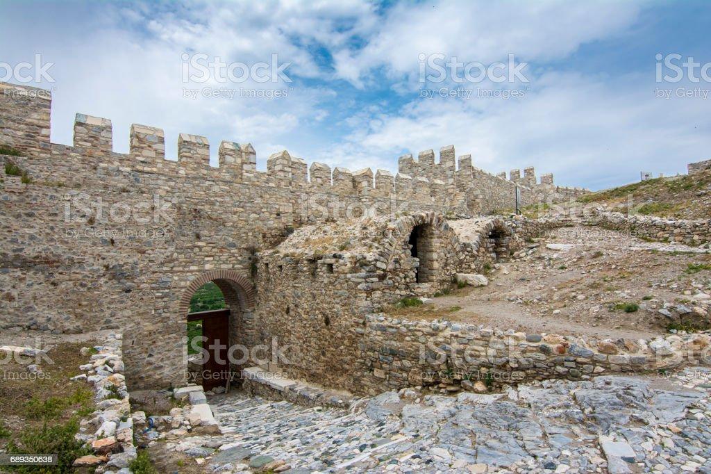 Ayasuluk Inner Castle in Selcuk stock photo