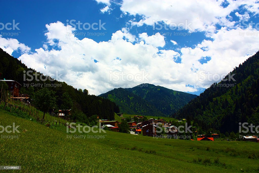 Ayder plataeu stock photo