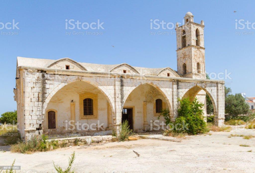 Ayia Marina Church in Yialousa, Karpasia, Cyprus stock photo