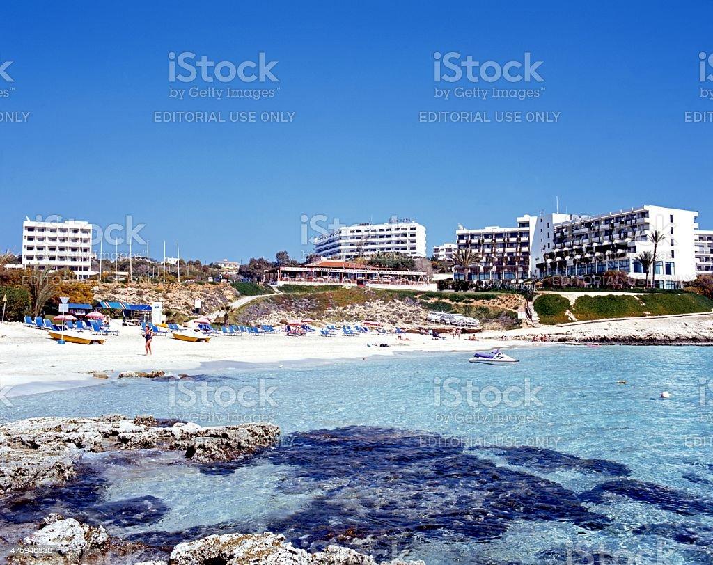 Ayia Napa beach. stock photo