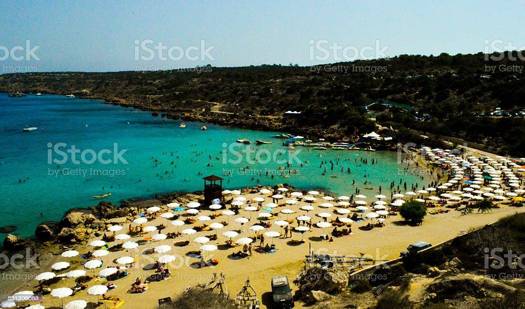 Ayia Napa - Cyprus - Konnos Beach stock photo