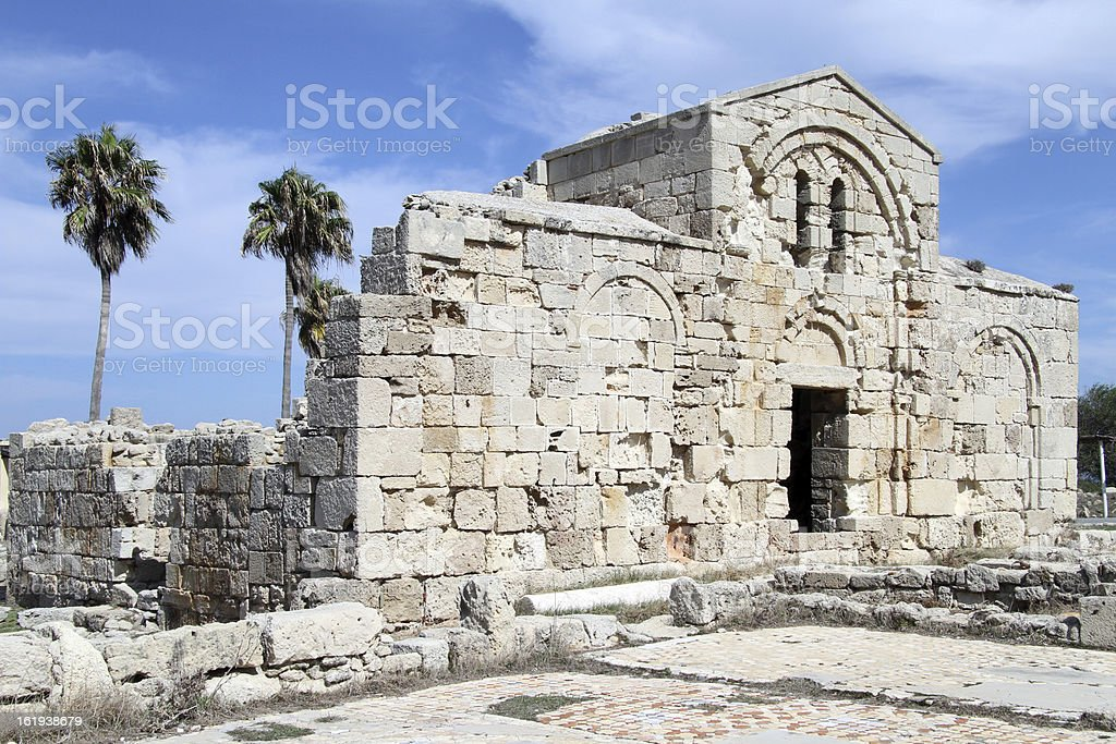 Ayios Philion church stock photo
