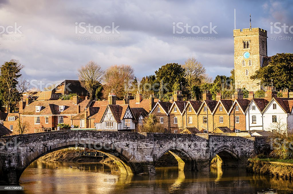 Aylesford Bridge at Sunset stock photo