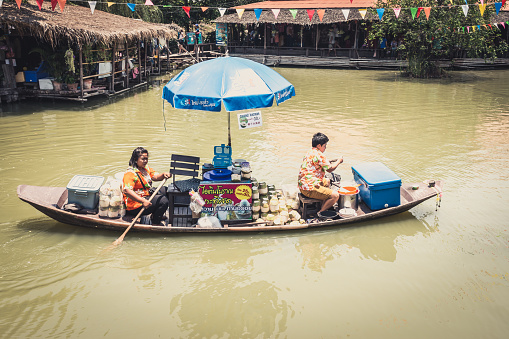 istock Ayothaya Floating Market in Thailand 472087870
