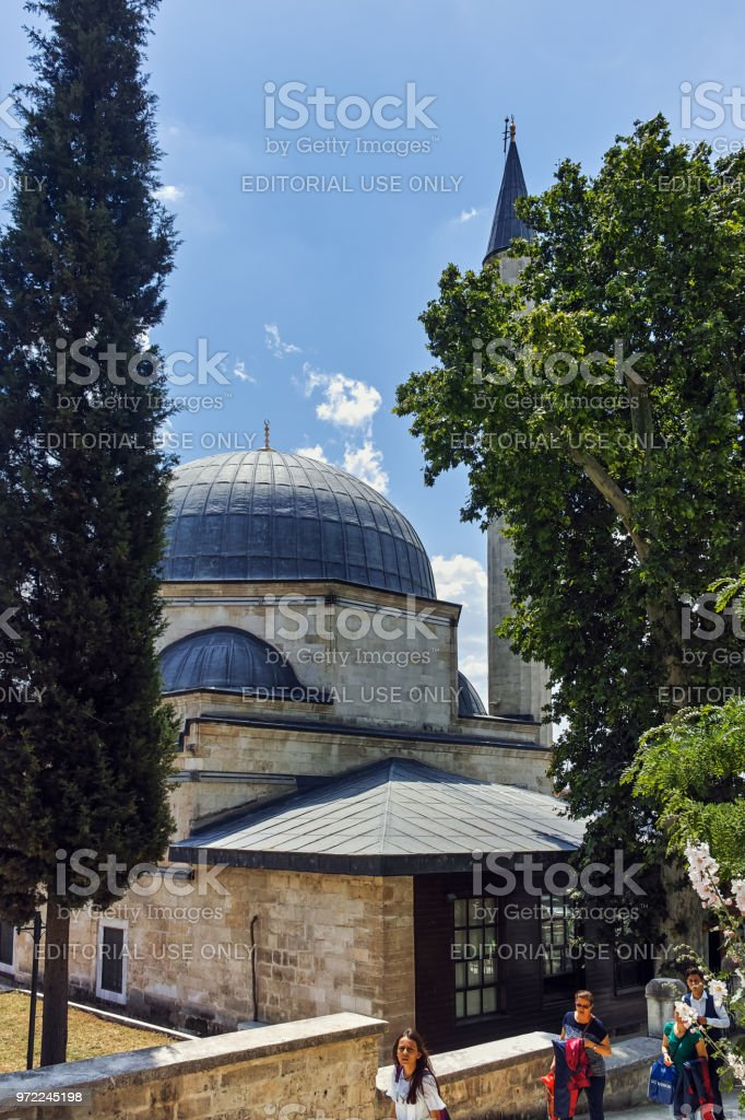 Ayshe Kadın Cami Mosque in city of Edirne,  East Thrace, Turkey stock photo