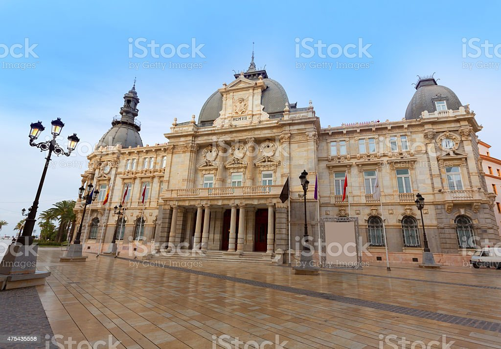Ayuntamiento de Cartagena Murcia city hall Spain stock photo