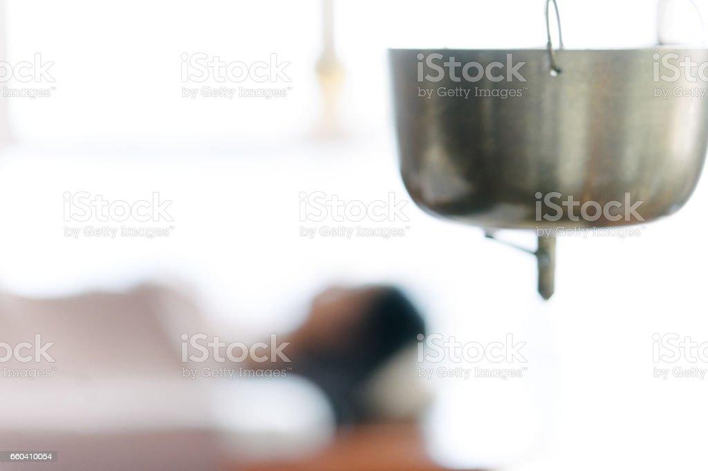 Ayurveda spa massage stock photo