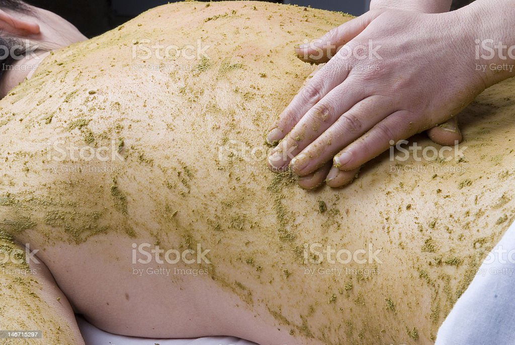 Ayurvedic massage royalty-free stock photo