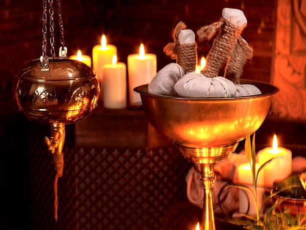massage Nature morte de spa ayurvédique - Photo