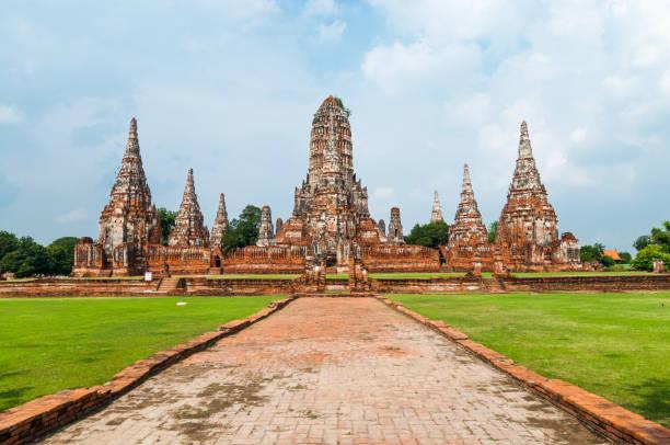 Ayuthaya, old capital of Thailand stock photo