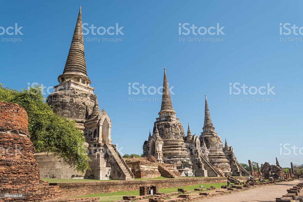 Ayutthaya Thailand - ancient city and historical place. stock photo