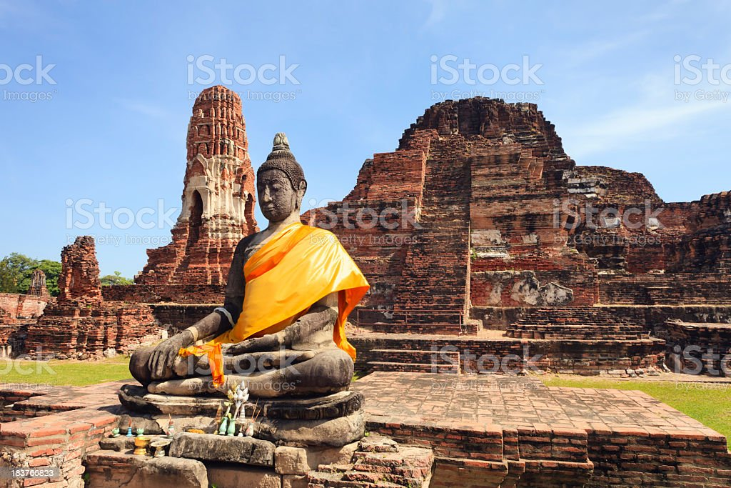 Ayutthaya, Wat Phra Mahathat stock photo
