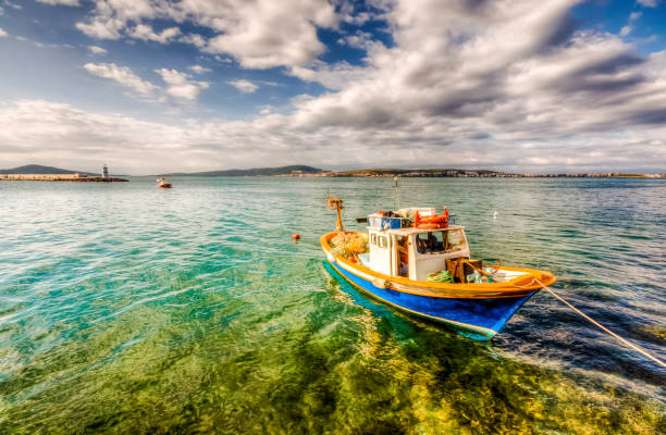 Ayvalik Town in Turkey stock photo