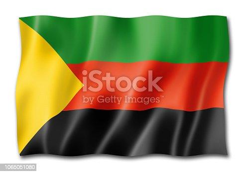 istock Azawad MNLA flag isolated on white 1065051080