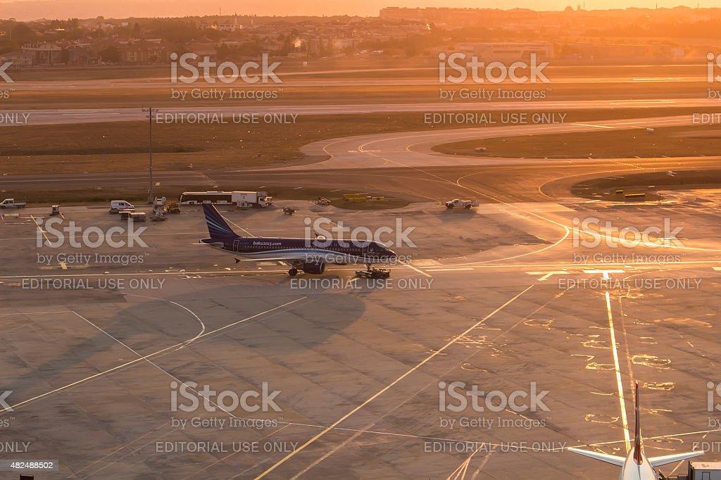 Azerbaijan airlines stock photo