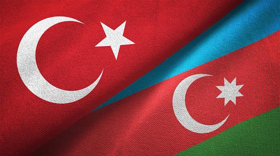 Aserbaidschan Und Der Turkei Zwei Fahnen Zusammen Textil Tuch Stoff Textur Stockfoto Und Mehr Bilder Von Abmachung Istock
