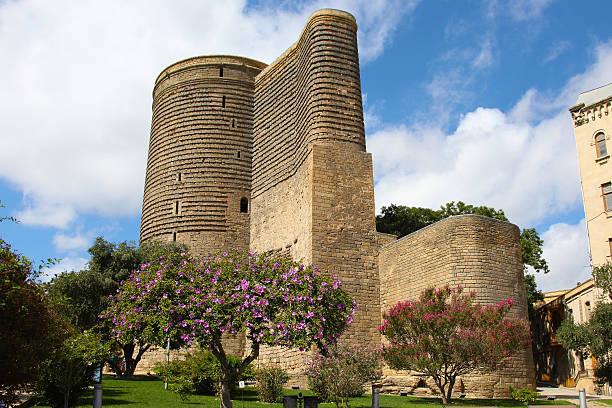 Azerbaijan. Baku. Maiden Tower stock photo