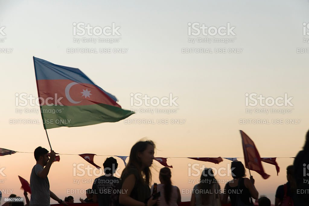 Azerbaijan flag. stock photo