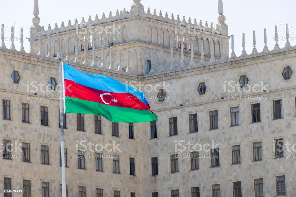 Azerbaycan bayrağı stok fotoğrafı