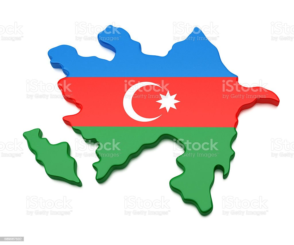 Azerbaijan Map stock photo