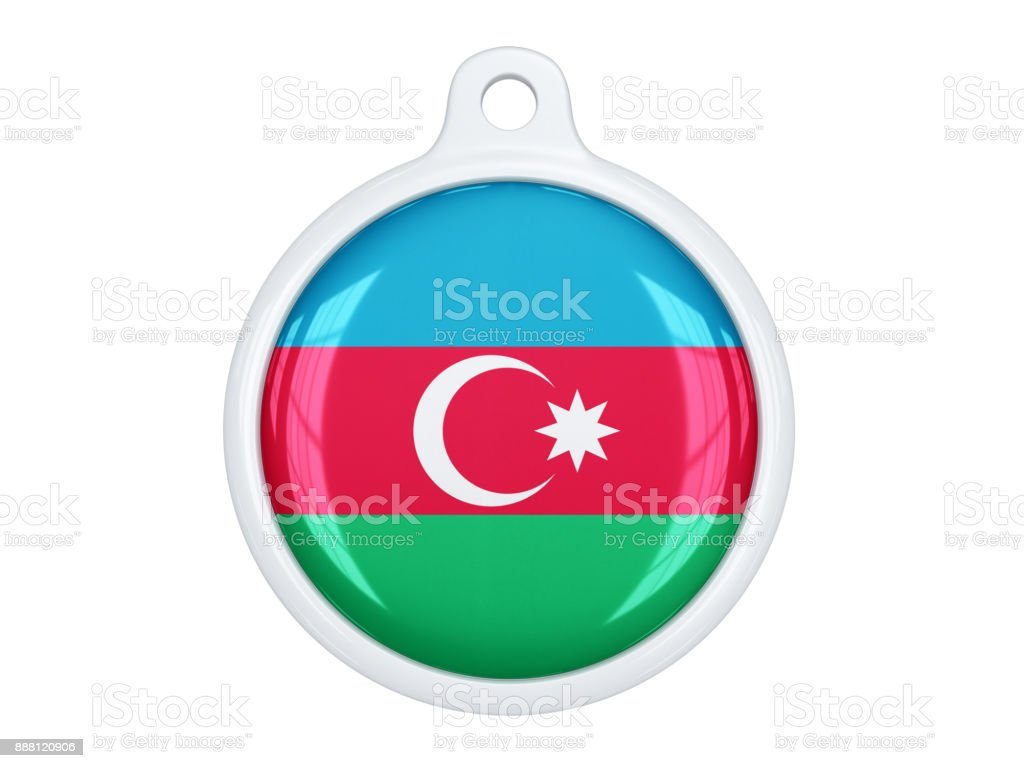 Azerbaijan medal stock photo