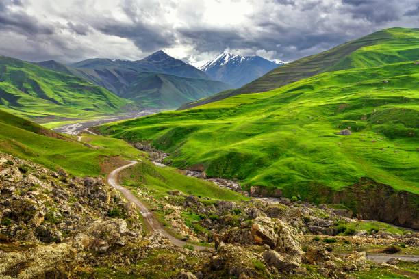 Azerbaijan mountains stock photo