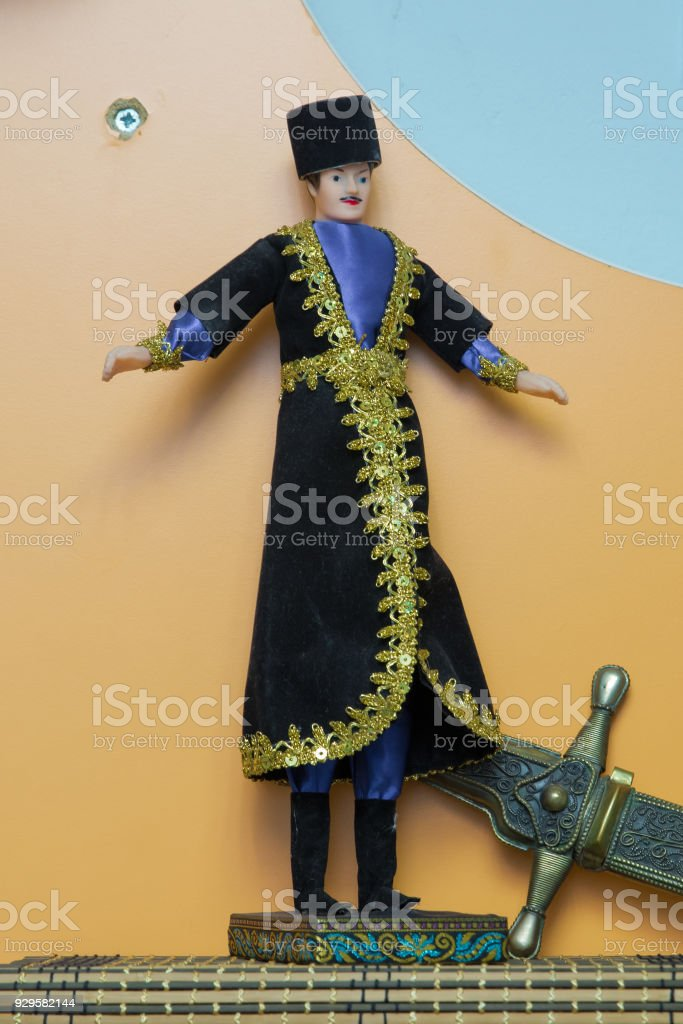Azerbaijan National Womens And Mens Puppet Wear Azerbaijani Traditional Clothing Azerbaijani National Costume Young Turkishazeri Man In Traditional Azerbaijani Dress Stock Photo Download Image Now Istock