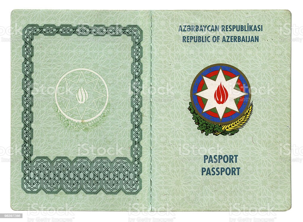 Azerbaijan passport royalty-free stock photo