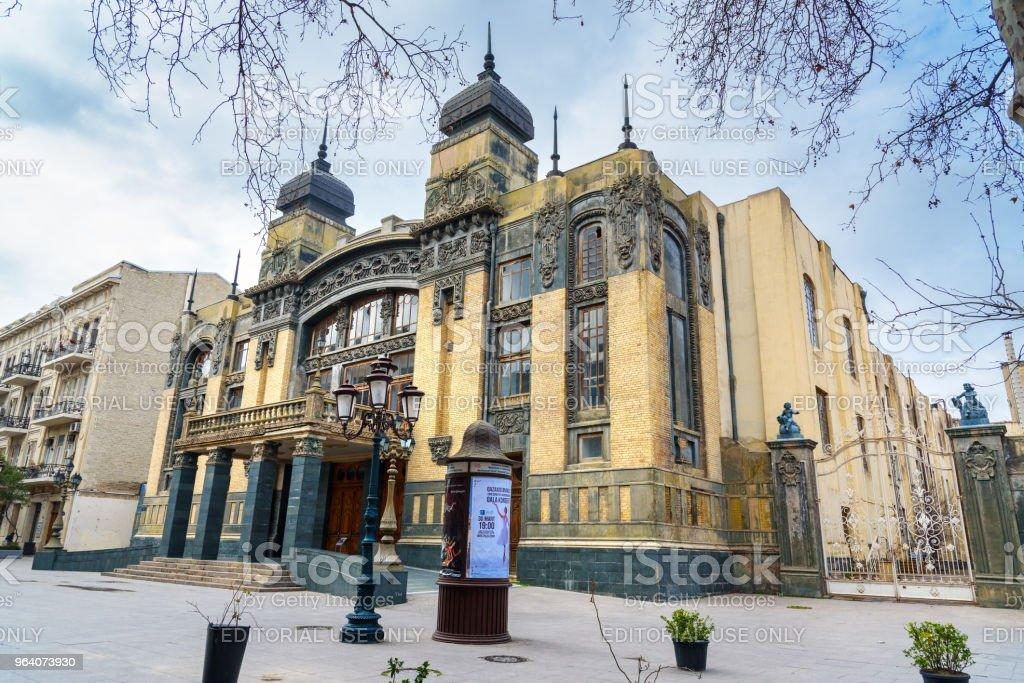 アゼルバイジャン国立オペラ ・ バレエ劇場バクー - まぶしいのロイヤリティフリーストックフォト