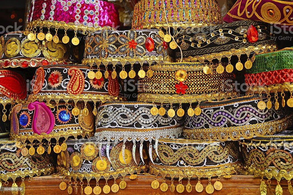 Azerbaijani caps stock photo