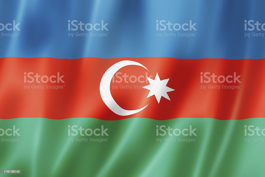 Azerbaijani flag stock photo