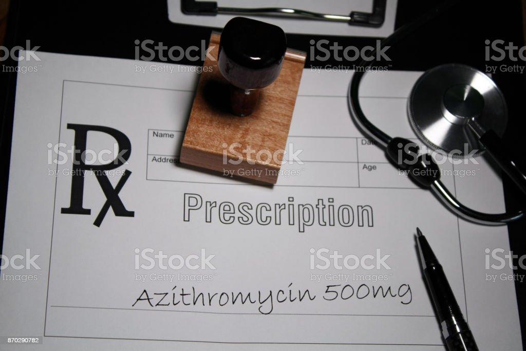 Azithromycin Prescription stock photo