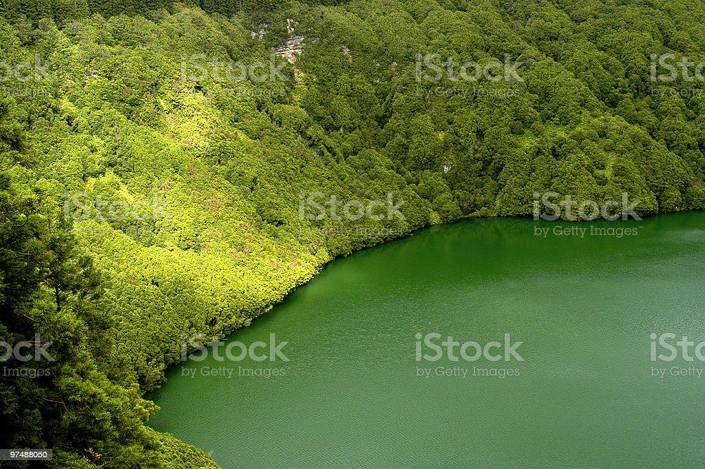 azores lake royalty-free stock photo
