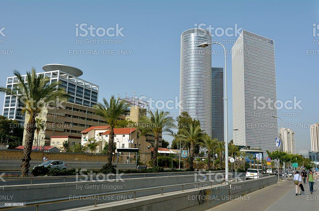 Azrieli Center in Tel Aviv - Israel stock photo