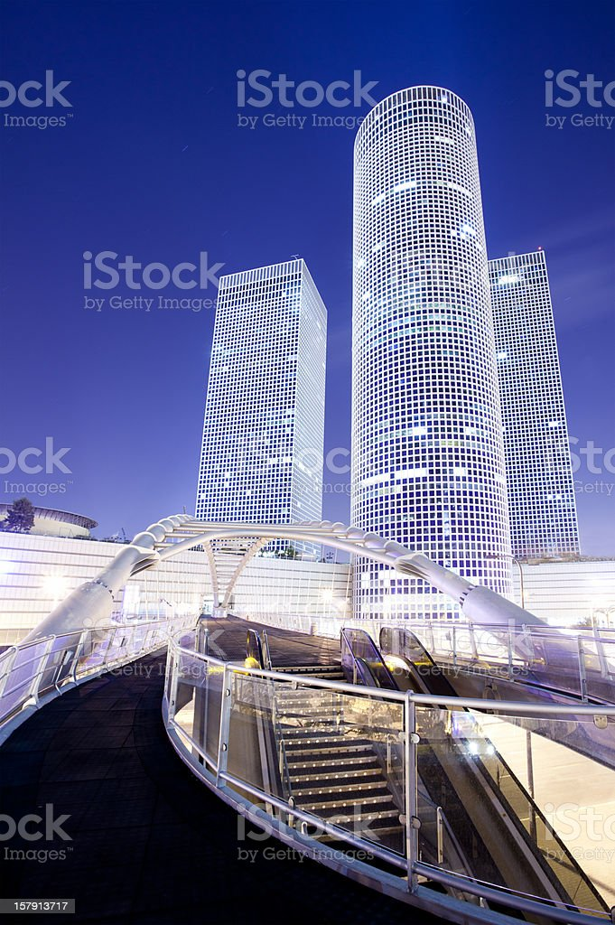 Azrieli centre in Tel Aviv royalty-free stock photo