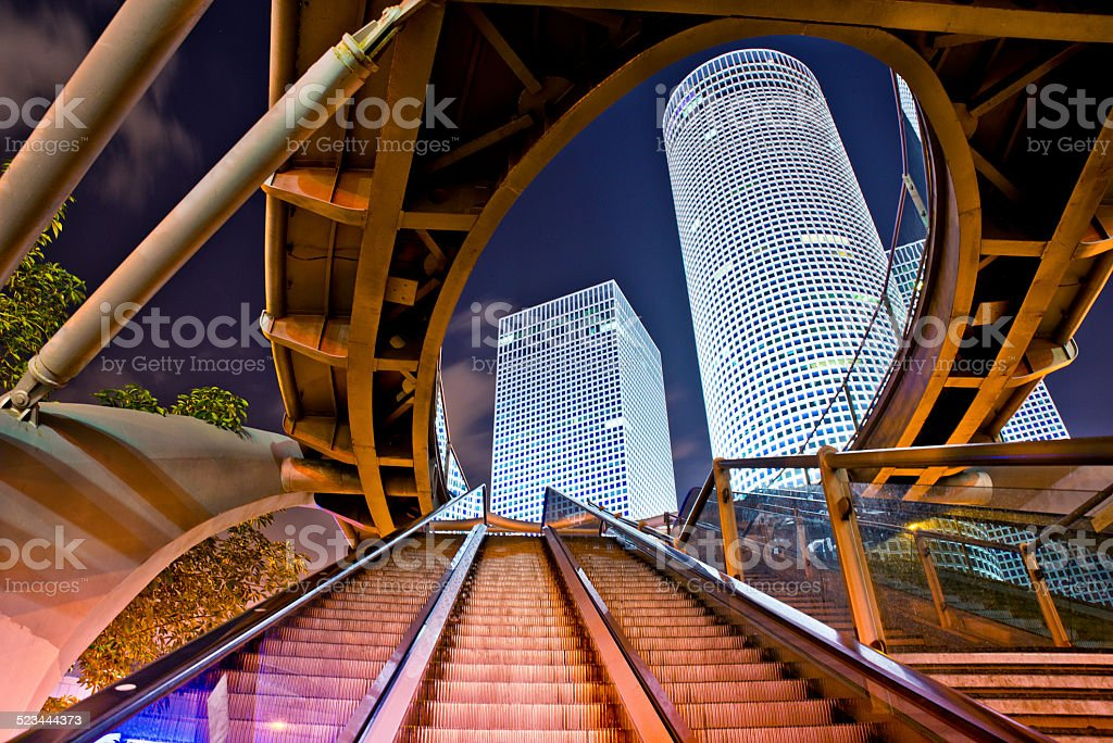 Azrieli centre in Tel Aviv stock photo