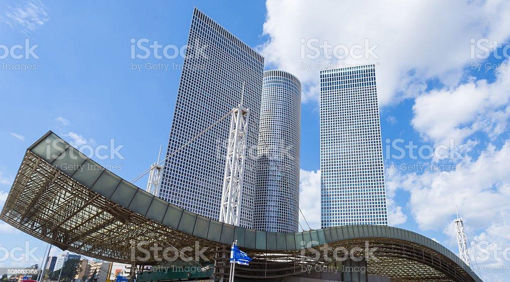Azrieli Towers in Tel Aviv stock photo