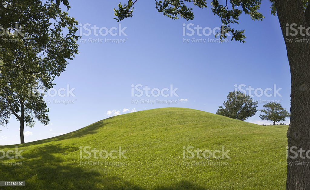 Aztalan Burial Mound royalty-free stock photo