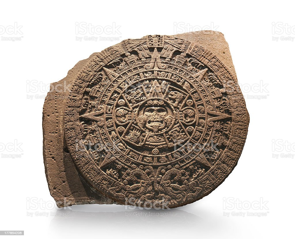 Aztec Calendar stock photo