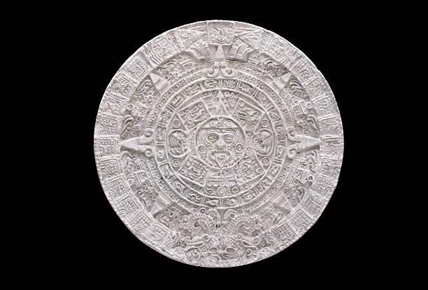 aztec calendar stock photo