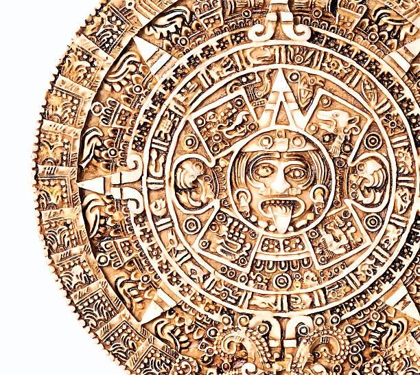 Aztec calendar. stock photo