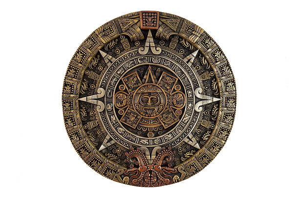 Aztec calendar Isolated ancient Aztec calendar antiquities stock pictures, royalty-free photos & images